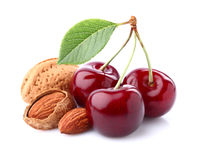 Cherry with almonds Royalty Free Stock Photo