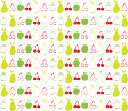 Cherry apple and pear wallpaper background Royalty Free Stock Image