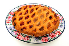 Cherry And Apple Pie Stock Photography