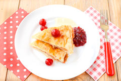 Cherry and apple pie dessert royalty free stock photos