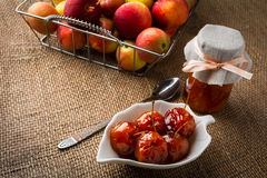 Cherry apples in syrup Royalty Free Stock Image