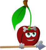 Cherry as native holding a spear Royalty Free Stock Photography