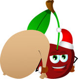 Cherry as Santa Claus with a big sack Royalty Free Stock Image