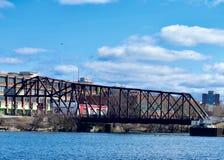 Cherry Avenue Bridge arkivfoton
