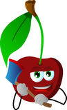 Cherry with an axe Stock Images
