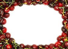 Cherry background. Light and dark red cherries background Royalty Free Stock Images