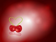 Cherry background Stock Image