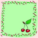 Cherry background Stock Photos