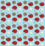 Cherry Background. Illustration of a cherry and polka dotted background royalty free illustration