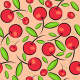 Cherry background. berry seamless texture Stock Photography