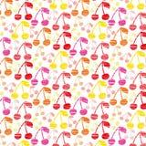 Cherry Background inconsútil colorido Foto de archivo