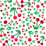 Cherry Background Painted Pattern Illustration Stock