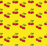 Cherry (background). The pattern for the background, made their little juicy cherries Stock Images