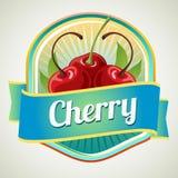 Cherry badge Stock Photo