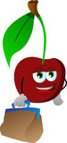 Cherry with bag Royalty Free Stock Images