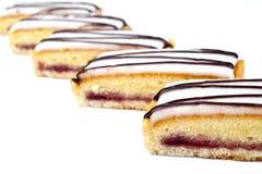 Cherry Bakewell Slices Stock Photos