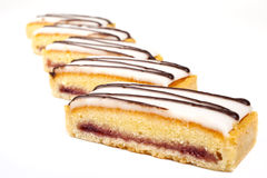 Cherry Bakewell Slices Stock Images