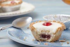 Cherry bakewell tart Stock Photo