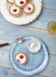 Cherry bakewell tart Royalty Free Stock Photo