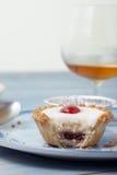 Cherry bakewell tart Royalty Free Stock Image