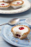 Cherry bakewell tart Stock Photos
