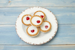Cherry bakewell tart Royalty Free Stock Images