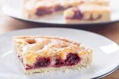 Cherry Bakewell Tart Stock Image