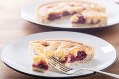 Cherry Bakewell Tart Royalty Free Stock Photos