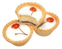 Cherry Bakewell Tarts Royalty Free Stock Images