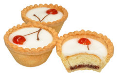 Cherry Bakewell Tarts Stock Photo