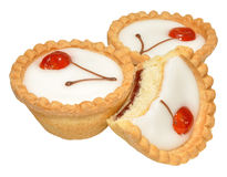 Cherry Bakewell Tarts Royalty Free Stock Photos