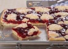Cherry Bar Dessert imagem de stock