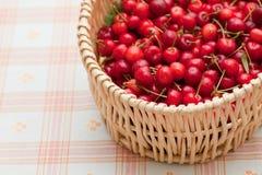 Cherry basket Stock Image