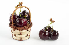 Cherry basket Royalty Free Stock Image