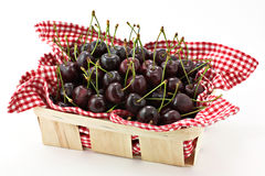 Cherry basket. Some fresh fruits, cherry in a basket Stock Photo