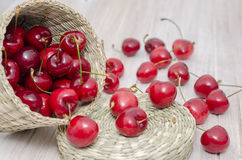 Cherry In A Basket Royalty Free Stock Photo
