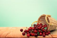 Cherry, Basket, Fruit Stock Image