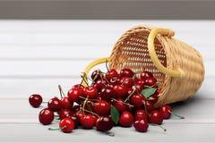 Cherry Basket Royalty Free Stock Photo