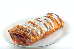 Cherry Bavarian Cream Strudel Royalty Free Stock Images
