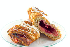 Cherry Bavarian Cream Strudel Royalty Free Stock Photo