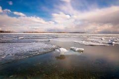Cherry Beach van Toronto tijdens de winter Stock Fotografie