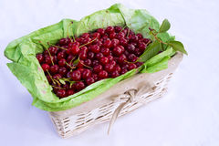 Cherry. Beautiful cherries in a basket,photography Royalty Free Stock Photo