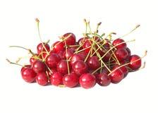 Cherry Berries aisló en el fondo blanco Fotos de archivo