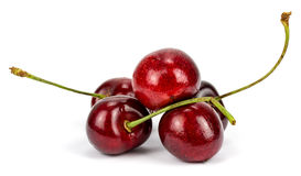 Cherry berries isolated on white background Stock Photos