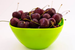Cherry berries. Still life with cherry berries on the plate Royalty Free Stock Photos