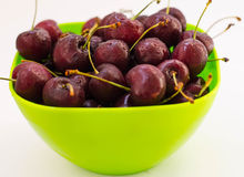 Cherry berry. Still life with cherry berries on the plate Royalty Free Stock Photography