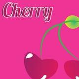 Cherry. Big cherry on pink background Stock Photos
