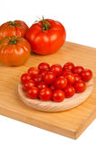 Cherry and  bigger tomatoes Royalty Free Stock Photo