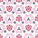 Cherry Bloom Asian Style Ornamental cor-de-rosa sem emenda ilustração do vetor