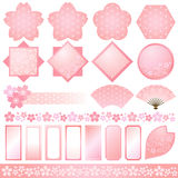 Cherry blossom. Set of cherry blossom decoration Stock Photo